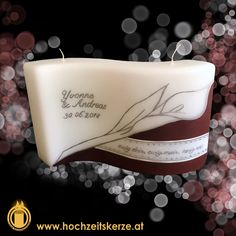 Hochzeitskerze braun, Welle, Calla Calla, Tote Bag, Gifts, Brown, Craft, Carry Bag, Tote Bags