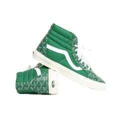 Green Goyard with Gold Lace Tips
