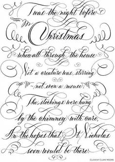 'Twas the night before Christmas....