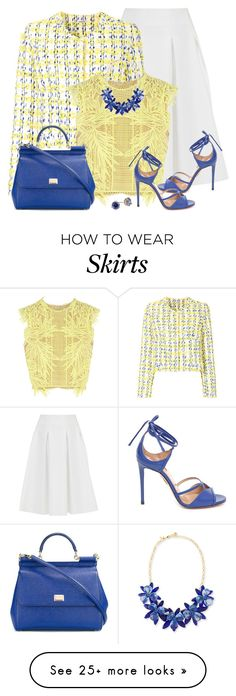 """""""Lady in Lemon"""" by asigworth on Polyvore featuring Ted Baker, P.A.R.O.S.H., Erdem, Aquazzura, Dolce&Gabbana and Kate Spade"""
