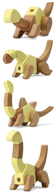 Click 'n' Play - built your own dinosaur wooden toy | toy design: