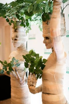 Living Statue Green Birch Trees at a Corporate Event in NYC - by TEN31