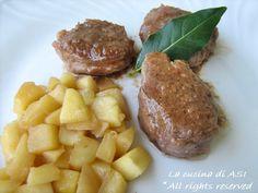 FILETTO DI MAIALE CON LE MELE Ricetta secondo piatto di carne