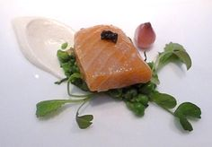 Dining with Raymond Blanc (good article)  salmon confit, gorgeous