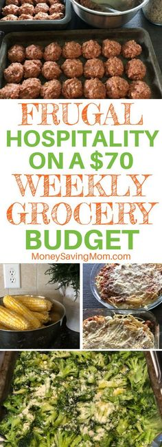 You can show hospitality even on a small grocery budget! This post is so inspiring!! #grocerybudget #mealplan #frugalmealplan #menuplanonabudget