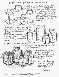 Tips for How To Draw a Still Life, Free Printable Worksheet.:
