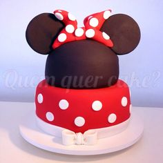Bolo Minnie Vermelha (red Minnie Cake)