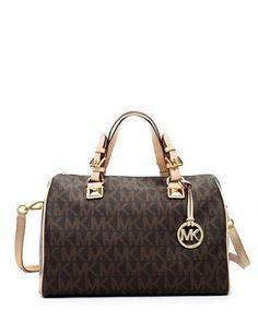 ead8c8e14296 Michael Kors Grayson Signature Print Medium Satchel New Handbags, Fashion  Handbags, Coach Handbags,
