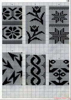 Mnemosina.ru: Перфокарты (16/30) Crochet Curtains, Tapestry Crochet, Tapestry Weaving, Designer Knitting Patterns, Knitting Designs, Crochet Girls Dress Pattern, Crochet Patterns, Shibori, Cross Stitch Embroidery