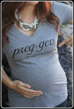 Preggers Definition Shirt Preggers Shirt Prego by TheStickerPlace  A non-offensive baby/pregnancy gift, I need more of these