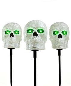 Kurt Adler #halloween #decorations #skull #macys BUY NOW!