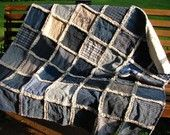 denim and homespun primitive country quilt