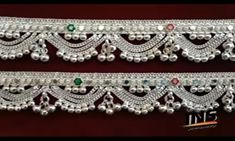 Silver Jewellery Indian, Gold Jewellery Design, Jewelery, Silver Jewelry, Silver Anklets Designs, Anklet Designs, Ankle Jewelry, Drawing Sketches, Bling Bling