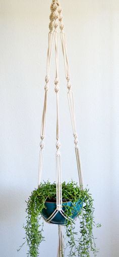 These sweet Macrame Plant Hangers are carefully handcrafted, made of natural cotton rope. All of my hangers are made to last, using the best of the