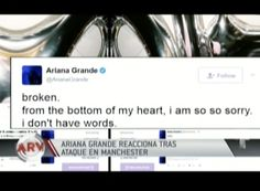 Esto Fue Lo Que Dijo Ariana Grande Luego Del Atentado En El Concierto