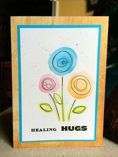 watercolor Simon Says Stamp Scribble Flowers