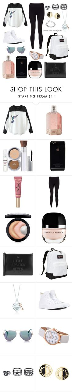 """Untitled #2044"" by beau-4-ever ❤ liked on Polyvore featuring Chicnova Fashion, L'Occitane, Too Faced Cosmetics, Sweaty Betty, MAC Cosmetics, Marc Jacobs, Lulu Guinness, JanSport, Converse and Cutler and Gross"