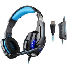 EACH G9000 Pro Gaming Headphone Headband Game Earphone Microphone LED Light 7.1 Surround Sound Casque for PC Gamer Headset