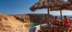 Papagayo beach. Popular beaches in Lanzarote