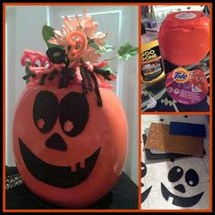 Dollar Store Crafter: Turn An Empty Tide Pod Container Into A Pumpkin Flower Vase