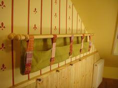 Zsebek a karnisra - tároló készítése DIY