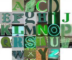 Anche l'alfabeto è #green