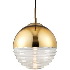The Paloma light is a light gold effect ceiling pendant with clear ribbed glass. It adds a touch of elegance to any room. Click to shop for yours.