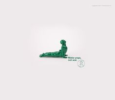 Make yoga, not war. Advertising Agency: Bolero, Brazil Creative Directors: André Mota, Diego Ribeiro Art Director: Diego Ribeiro Copywriter: Tho