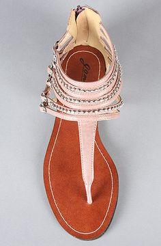 *Sole Boutique The Ares XXIV Sandal in Rose : Karmaloop.com - Global Concrete Culture