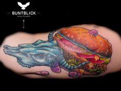 Anti-Burger Tattoo - http://www.buntblick-tattoo.de/