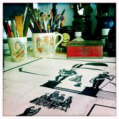The studio of Ed Kluz via Pentreath & Hall