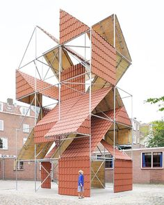 '2x3x5' is a 3D #installation by filip dujardin consisting of a scaffold…