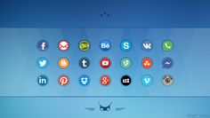 Social Media Icons  Download: http://alpercakici.deviantart.com/art/Social-Media-Icons-2-400423722