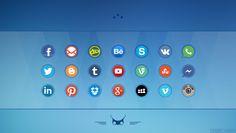Social Media Icons  Download: http://alpercakici.deviantart.com/art/Social-Media-Icons-2-400423722