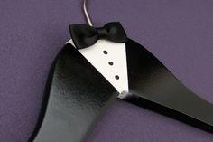 Wedding Hanger, Groom Hanger, Personalized Hanger, Wedding Gift, Bachelor Party, Painted Hanger via Etsy