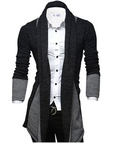Tom's Ware Mens Classic Fashion Marled Open-Front Shawl Collar Cardigan at Amazon Men's Clothing store: