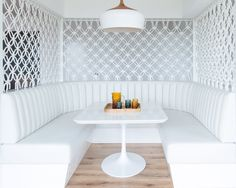Beautiful #screen or room #divider made with white #rope for a unique decorative element