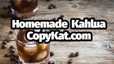 Learn how to make a delicious homemade kahlua. Kahlua is a brand name for a coffee liqueur. You can make this amazing drink at home. It's great to give as a . Fun Drinks, Yummy Drinks, Beverages, Kahlua Recipes, Coffee Recipes, What Is Kahlua, Kahlua And Cream, Coffee Liqueur Recipe, Homemade Kahlua