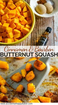 Low Unwanted Fat Cooking For Weightloss Bourbon And Cinnamon Roasted Butternut Squash, Diced Butternut Squash Is Tossed With Olive Oil And Bourbon, Then Coated In Cinnamon, Brown Sugar And Salt Before Roasting In The Oven. Couscous, Appetizer Recipes, Dessert Recipes, Dinner Recipes, Keto Desserts, Party Recipes, Holiday Recipes, Thanksgiving Recipes, Zucchini