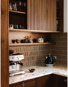 Home Decor Kitchen, Interior Design Kitchen, New Kitchen, Home Kitchens, Swedish Kitchen, Warm Kitchen, Modern Kitchen Cabinets, The Design Files, Küchen Design