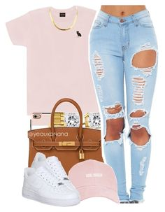 """""""02.07.16"""" by yeauxbriana ❤ liked on Polyvore featuring October's Very Own, Casetify, Lacoste, Hermès, NIKE, women's clothing, women, female, woman and misses"""