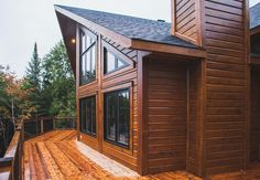 For the lovers of wood homes...an up close look at the beautiful construction of a Timber Block Insulated Wood Home. www.timberblock.com