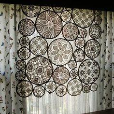 Doilie curtain--so pretty.