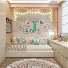 Amazing Girls Bedroom Ideas, Childrens Bedroom Decorating Ideas Home What do you think? Cute Bedroom Ideas, Girl Bedroom Designs, Room Ideas Bedroom, Baby Bedroom, Awesome Bedrooms, Girls Bedroom, Bedroom Decor, Bedroom Rugs, Childrens Bedroom