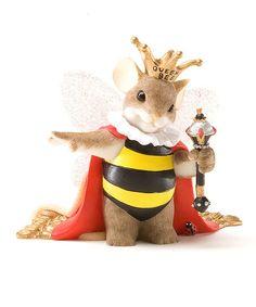 Queen Bee Mouse Figurine