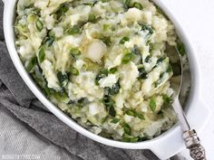 Colcannon is a simple Irish recipe that combines two hearty but inexpensive ingredients to make a delicious and filling side dish. Step by step photos.