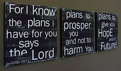 Jeremiah 29:11 - this would be awesome to paint if I could do that lol