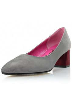 Throw on these low heels for some laid-back sophisticated style. This suede pump is the perfect addition to your favorite office ensemble. A grey and bordeaux 2 inch heel suede pump  Colorblock Suede Heel by Le Babe . Shoes - Pumps & Heels - Low Heel South Carolina