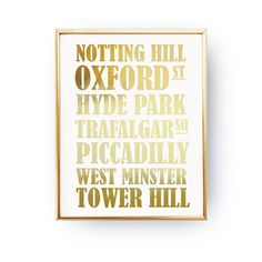 Real Gold Foil Print, London Metro Stations, Oxford ST, Notting Hill, Hyde Park, Fashion Art, Metro Stations Print, London Poster, 11x14. Every poster is designed with love by us. We print our works with high quality inks and premium paper.