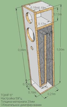 "voigt pipe speaker plan 8"" - Google Search"